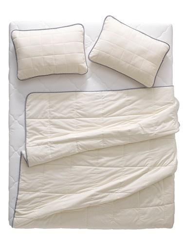Hibboux Soft Flannel Tek Kişilik Pamuk Yorgan Beyaz